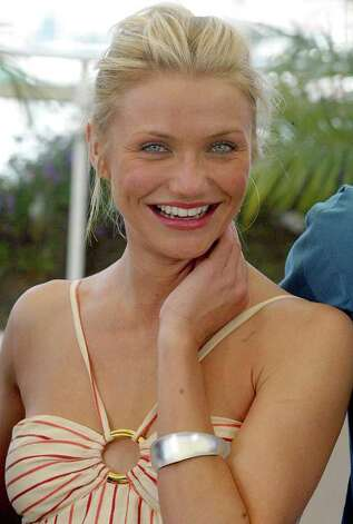 Actress Cameron Diaz smiles during a photocall at the 57th International film festival in Cannes, southern France, in this Saturday, May 15, 2004 file photo. (AP Photo/Laurent Rebours) Photo: LAURENT REBOURS / AP