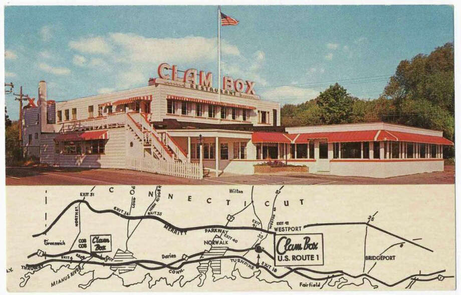The Clam Box restaurant on the Post Road in Westport was a seafood favorite for years with both locals and travelers alike. Photo: Contributed Photo / Westport News contributed