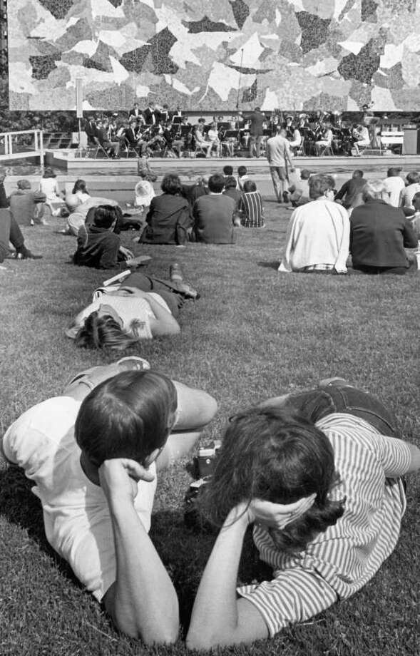 Foothills College Band plays at the Mural Amphitheater at the Seattle Center, June 3, 1963. (seattlepi.com file photo) Photo: Seattlepi.com File / Seattle Post-Intelligencer