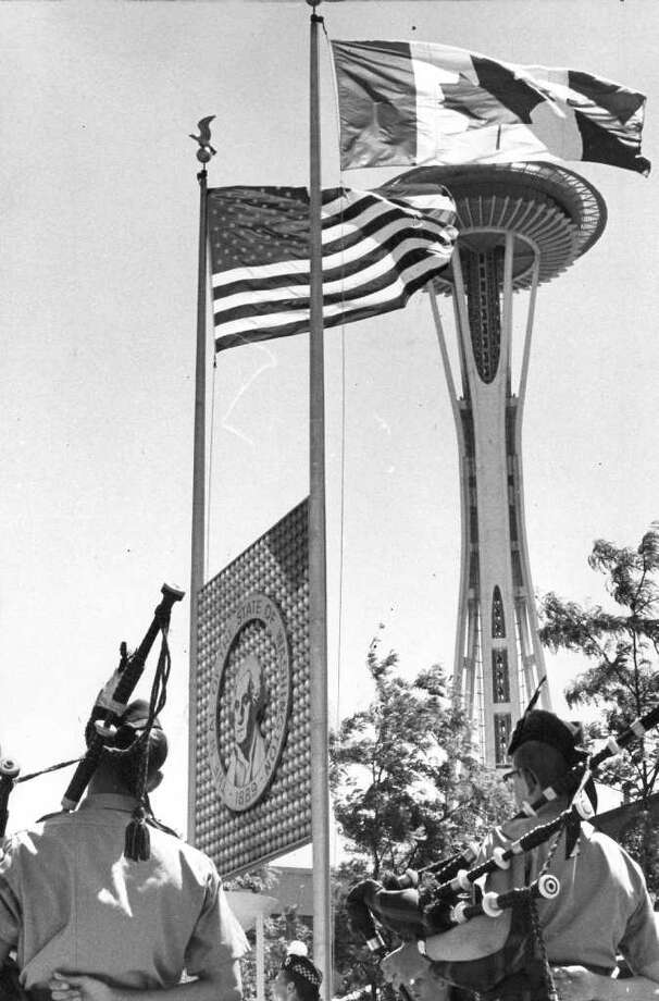 The Seattle Center Space Needle. July 2, 1967. (seattlepi.com file photo) Photo: Seattlepi.com File / Seattle Post-Intelligencer