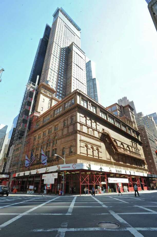 Exterior of Carnegie Hall in NEW YORK where the Albany Symphony Orchestra played it's debut concert Tuesday May 10, 2011. (Lori Van Buren / Times Union) Photo: Lori Van Buren