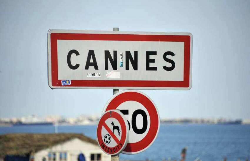 CANNES, FRANCE - MAY 10: A Cannes road sign prior to the 64th Cannes Film Festival on May 10, 2011 in Cannes, France. (Photo by Francois Durand/Getty Images)