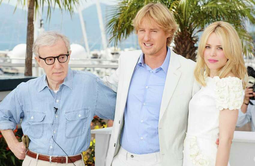 CANNES, FRANCE - MAY 11: (Left to Right) Actor Owen Wilson with director Woody Allen and actress Rachel McAdams attend the 'Midnight In Paris' photocall at the Palais des Festivals during the 64th Cannes Film Festival on May 11, 2011 in Cannes, France. (Photo by Ian Gavan/Getty Images) *** Local Caption *** Owen Wilson;Woody Allen;Rachel McAdams;