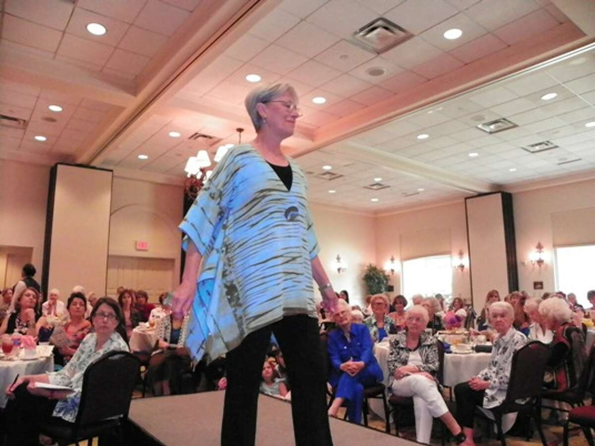 This slowing light blue and brown top was a popular piece in Saturday's FASA Runway Show.