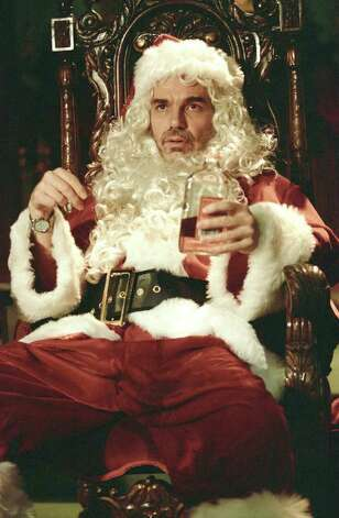 """Bad Santa"" -- Billy Bob Thornton plays a drunk, sexually aggressive mall Santa. Bernie Mac provides the lighter touch. Photo: AP"