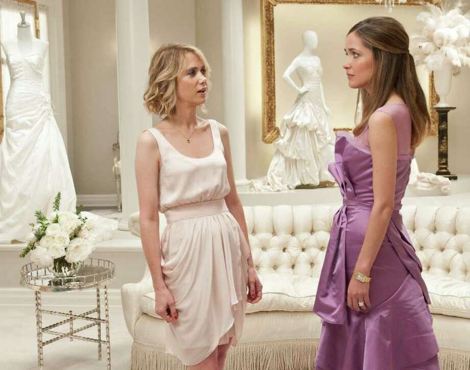 """Bridesmaids"" itself was left out of the best picture category, and Kristen Wiig failed to score an acting nomination as she did at the Golden Globes. However, Wiig and co-writer Annie Mumolo were nominated for best original screenplay.  Photo: AP"