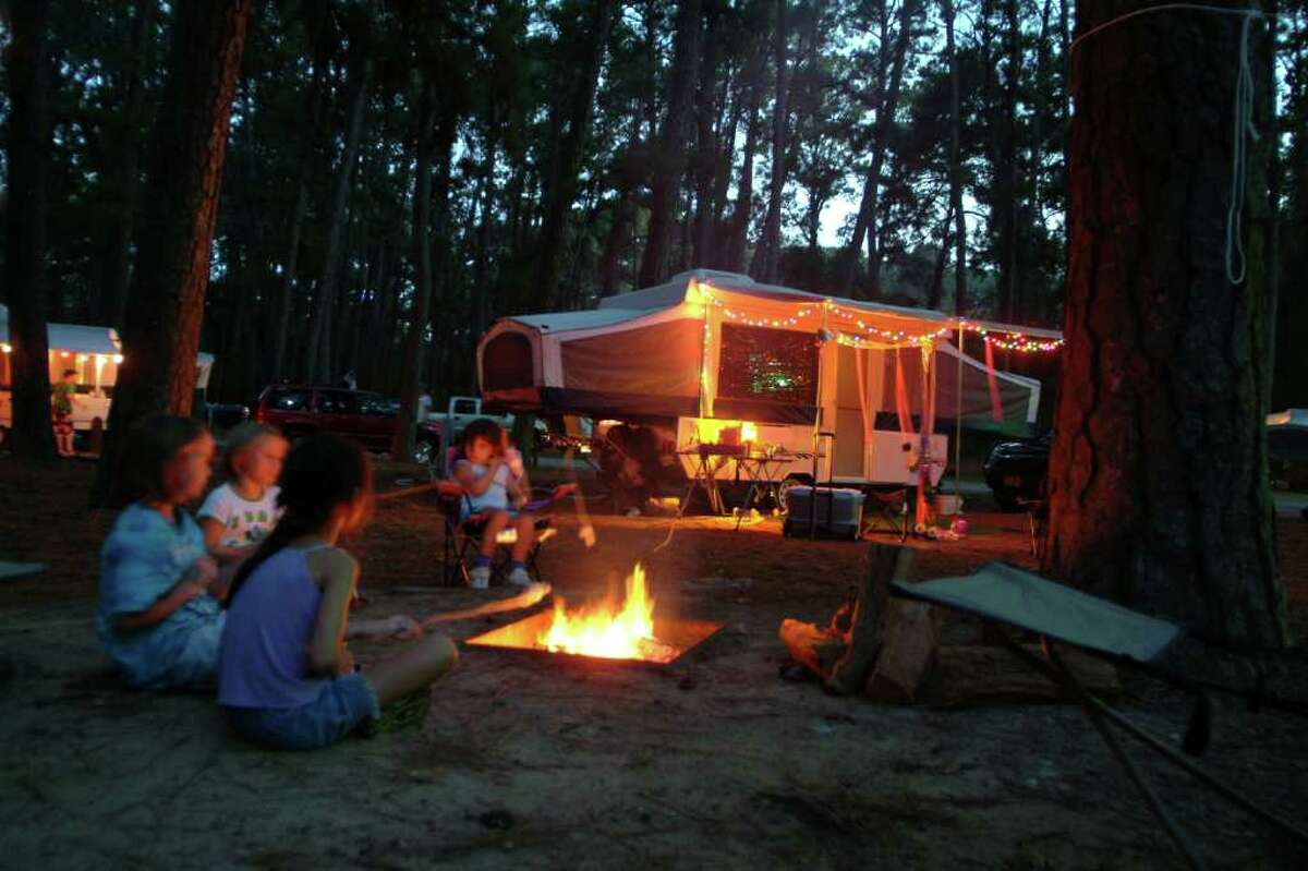 Bastrop State Park offers camping sites as well as historic cabins for rent.