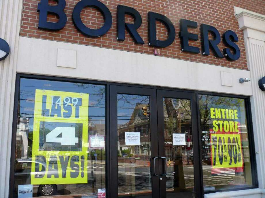 Borders will close its doors to the public on Sunday, but Book Warehouse, a national book discounter, will be moving in temporarily according to property owner Ken Kleban. Photo: Genevieve Reilly / Fairfield Citizen