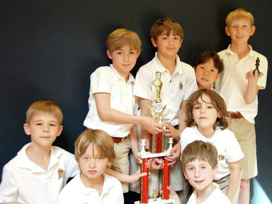 The Brunswick Lower School Chess Team had an impressive showing at the U.S. Chess Trust 2011 National Elementary (K-6) Championship, which was held recently in Dallas, Texas. Picture here are team members: front row, from left: William Baxter, Ashton Winegardner and Lucas Korn; middle row: Max Konzerowsky; back row, from left:  Christopher Dolan, Alexander Trauber, Victor Park and Braxton Reynolds. Photo: Contributed Photo / Greenwich Citizen