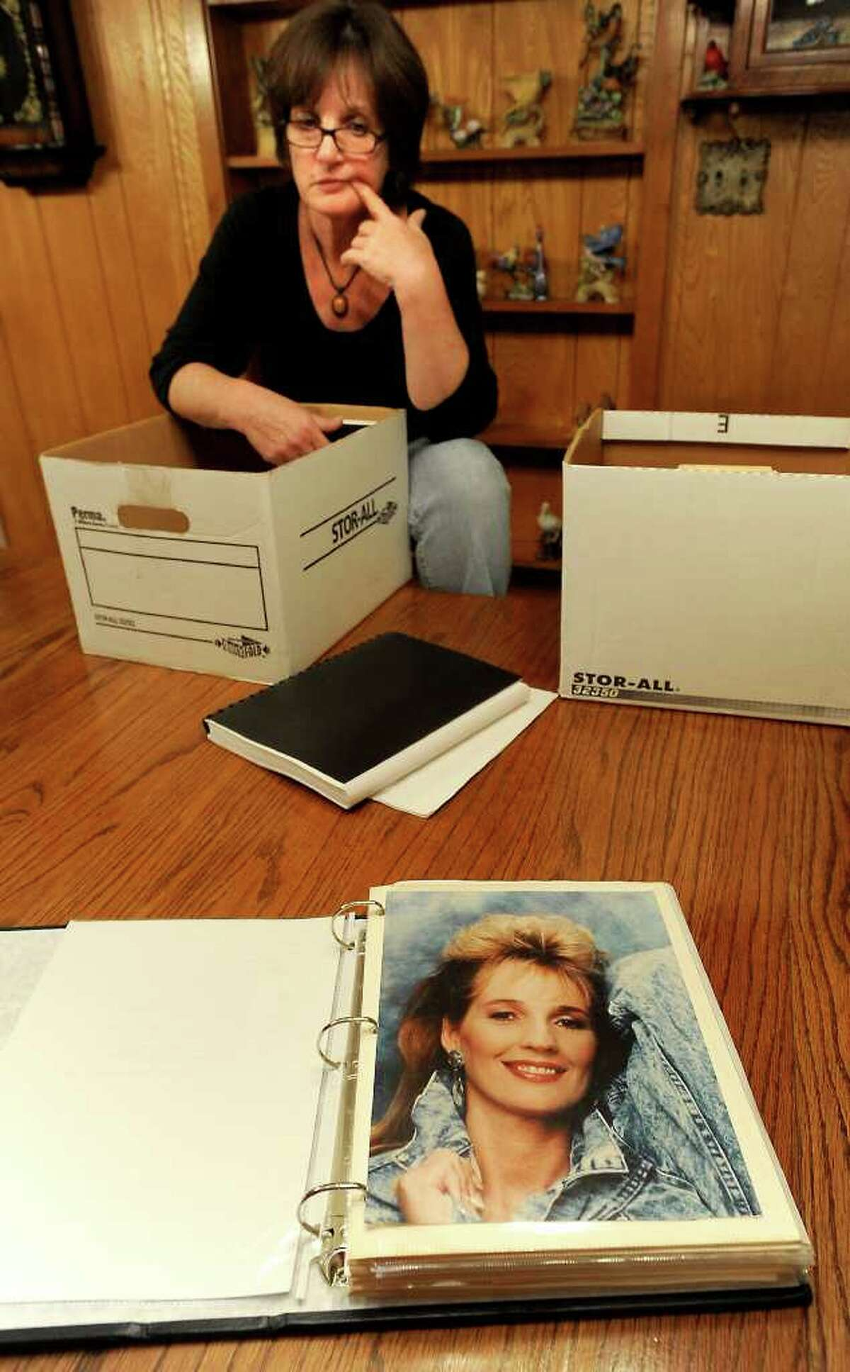 Diane Daigle talks about the death of her sister Kathy Page in Rose City, Friday. It's been 20 years since Kathy Page was found murdered in her vehicle and the case remains unsolved. Tammy McKinley/The Enterprise