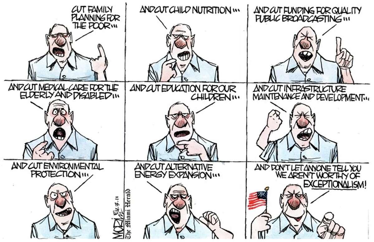 Federal budget, humor, satire, cartoons