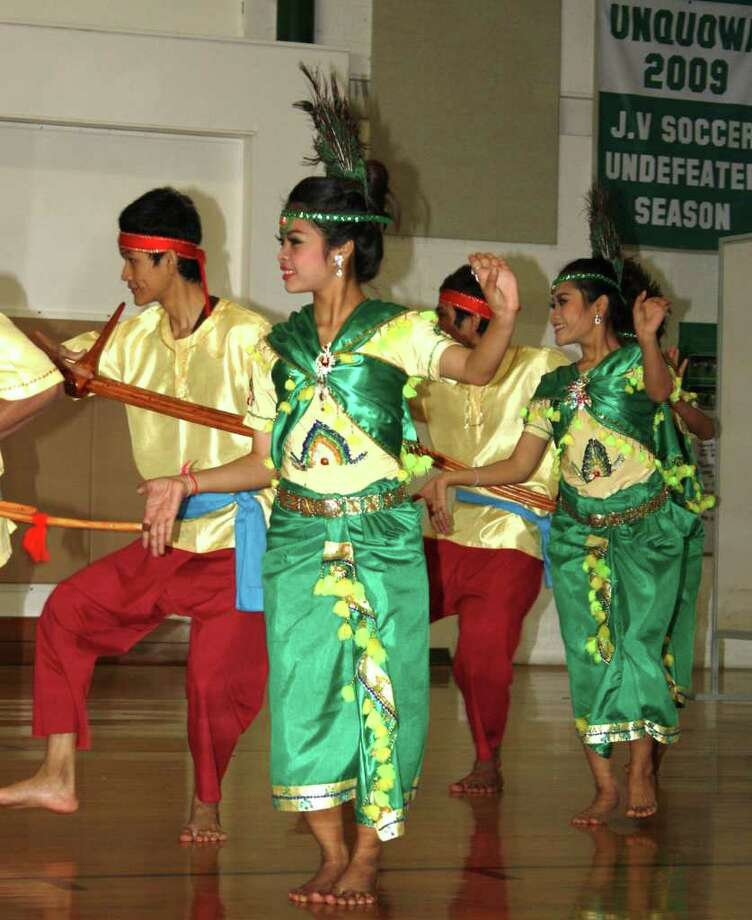 The Children of Bassac young adult dance troupe from Phnom Penh, Cambodia, perform at Unquowa School. Photo: Contributed Photo
