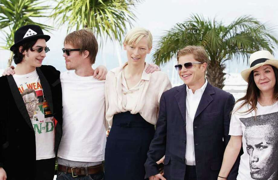 (L-R) Actor Ezra Miller, writer Rory Stewart Kinnear; actress Tilda Swinton, producer Luc Roeg, and actress Lynne Ramsay attend the 'We Need To Talk About Kevin' photocall during the 64th Annual Cannes Film Festival at the Palais des Festivals on May 12, 2011 in Cannes, France.  (Photo by Andreas Rentz/Getty Images) *** Local Caption *** Ezra Miller;Tilda Swinton;Lynne Ramsay;Luc Roeg;Rory Stewart Kinnear; Photo: Getty Images