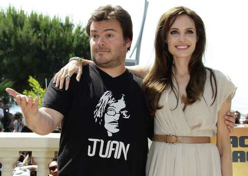 CANNES, FRANCE - MAY 12: Actors Jack Black (L) and Angelina Jolie attend the 'Kung Fu Panda 2' photocall during the 64th Annual Cannes Film Festival at the Carlton Hotel on May 12, 2011 in Cannes, France.  (Photo by Vittorio Zunino Celotto/Getty Images) *** Local Caption *** Jack Black;Angelina Jolie; Photo: Getty Images
