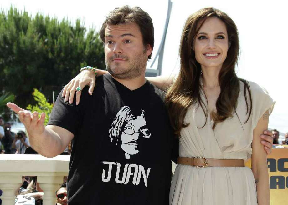 Actors Jack Black (L) and Angelina Jolie attend the 'Kung Fu Panda 2' photocall during the 64th Annual Cannes Film Festival at the Carlton Hotel on May 12, 2011 in Cannes, France.  (Photo by Vittorio Zunino Celotto/Getty Images) *** Local Caption *** Jack Black;Angelina Jolie; Photo: Getty Images