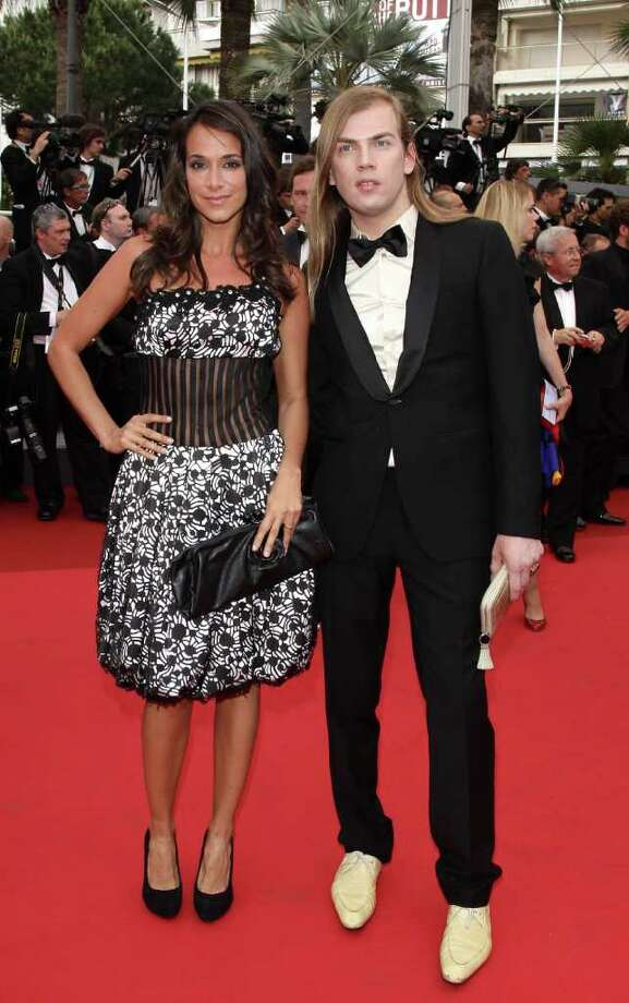Designer Christophe Guillarme and guest arrive at the 'Sleeping Beauty' premiere during the 64th Annual Cannes Film Festival at the Palais des Festivals on May 12, 2011 in Cannes, France.  (Photo by Andreas Rentz/Getty Images) *** Local Caption *** Christophe Guillarme; Photo: Getty Images