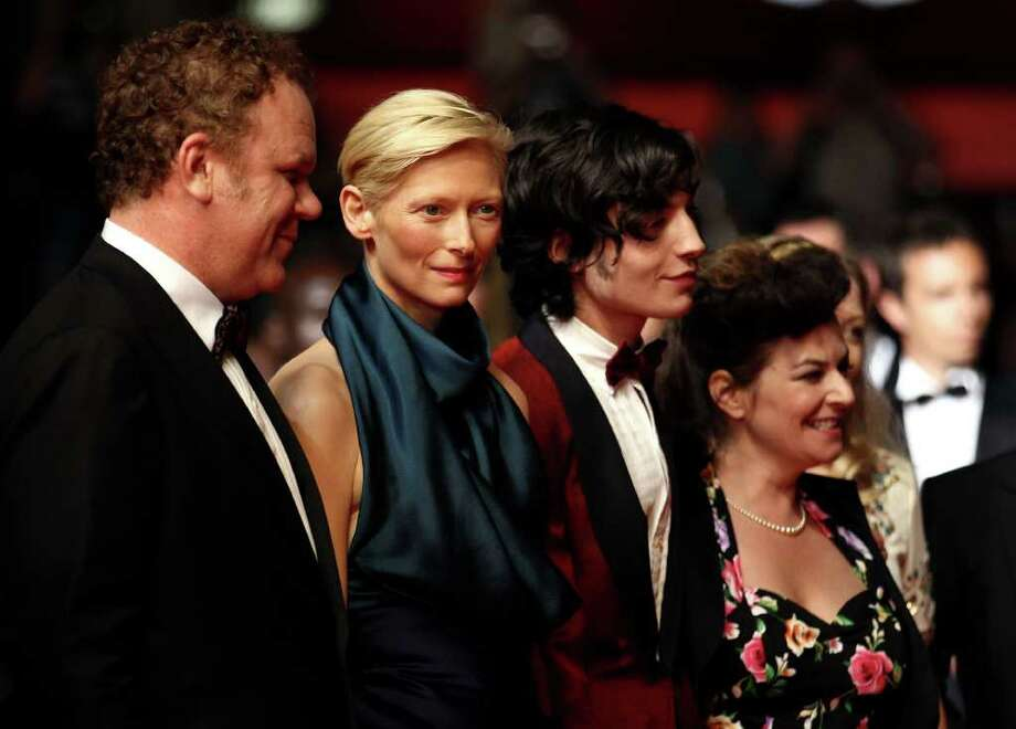 (L-R) Actor John C. Reilly, actress Tilda Swinton, actor Ezra Miller and director Lynne Ramsey arrive at the 'We Need To Talk About Kevin' Premiere during the 64th Annual Cannes Film Festival at the Palais des Festivals on May 12, 2011 in Cannes, France.  (Photo by Andreas Rentz/Getty Images) *** Local Caption *** John C. Reilly;Tilda Swinton;Ezra Miller;Lynne Ramsey; Photo: Getty Images