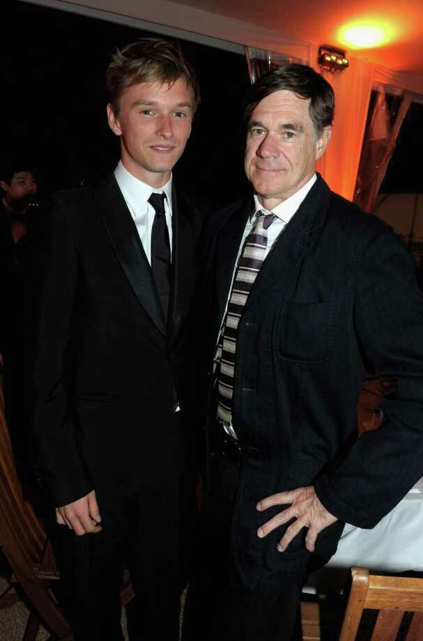 """(L-R) Actor Henry Hopper and director Gus Van Sant attend the """"Restless"""" dinner during the 64th Annual Cannes Film Festival at the Moet & Chandon Terrace on May 12, 2011 in Cannes, France.  (Photo by Michael Buckner/Getty Images) *** Local Caption *** Henry Hopper;Gus Van Sant; Photo: Getty Images"""