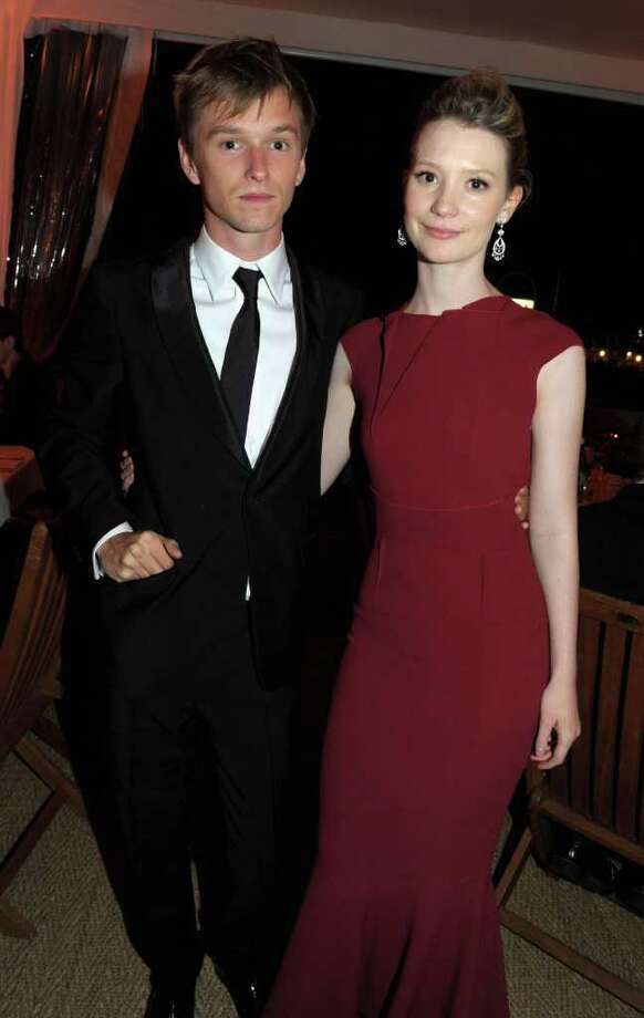 "(L-R) Actor Henry Hopper and Mia Wasikowska attend the ""Restless"" dinner during the 64th Annual Cannes Film Festival at the Moet & Chandon Terrace on May 12, 2011 in Cannes, France.  (Photo by Michael Buckner/Getty Images) *** Local Caption *** Henry Hopper;Mia Wasikowska; Photo: Getty Images"