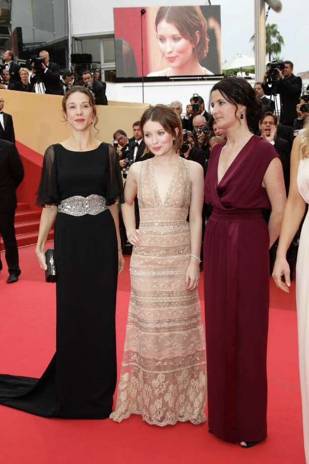 Producer Jessica Brentnall, actress Emily Browning and director Julia Leigh arrive at the 'Sleeping Beauty' premiere during the 64th Annual Cannes Film Festival at the Palais des Festivals on May 12, 2011 in Cannes, France.  (Photo by Andreas Rentz/Getty Images) *** Local Caption *** Jessica Brentnall;Emily Browning;Julia Leigh; Photo: Getty Images