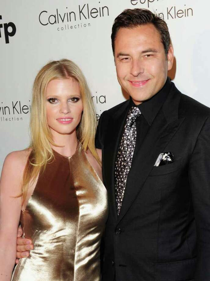 David Walliams and wife Lara Stone attend the Calvin Klein Event during the 64th Annual Cannes Film Festival at Martinez Hotel on May 12, 2011 in Cannes, France.  (Photo by Ian Gavan/Getty Images) *** Local Caption *** David Walliams;Lara Stone; Photo: Getty Images