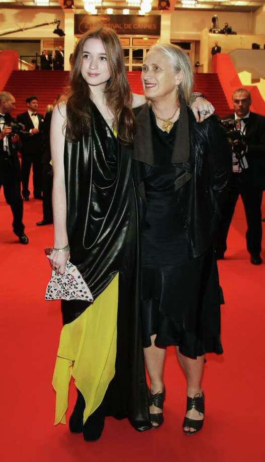 Actress Alice Englert and director Jane Campion depart from the 'Sleeping Beauty' premiere during the 64th Annual Cannes Film Festival at the Palais des Festivals on May 12, 2011 in Cannes, France.  (Photo by Andreas Rentz/Getty Images) *** Local Caption *** Alice Englert;Jane Campion; Photo: Getty Images