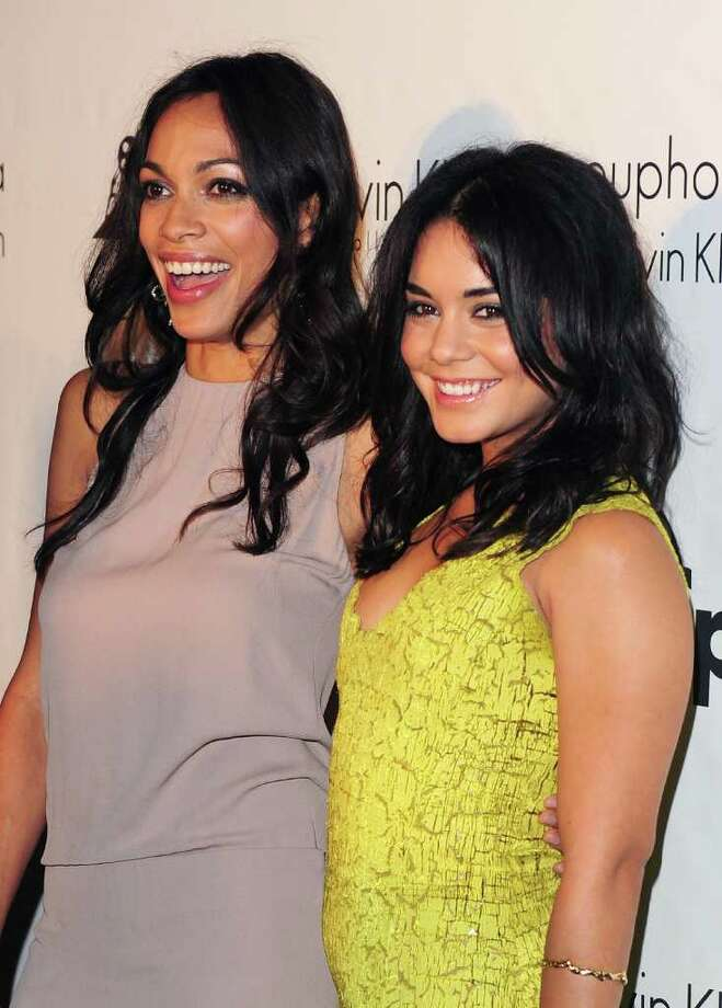 Actresses Rosario Dawson (L) and Vanessa Hudgens attend the Calvin Klein Event during the 64th Annual Cannes Film Festival at Martinez Hotel on May 12, 2011 in Cannes, France.  (Photo by Ian Gavan/Getty Images) *** Local Caption *** Rosario Dawson;Vanessa Hudgens; Photo: Getty Images