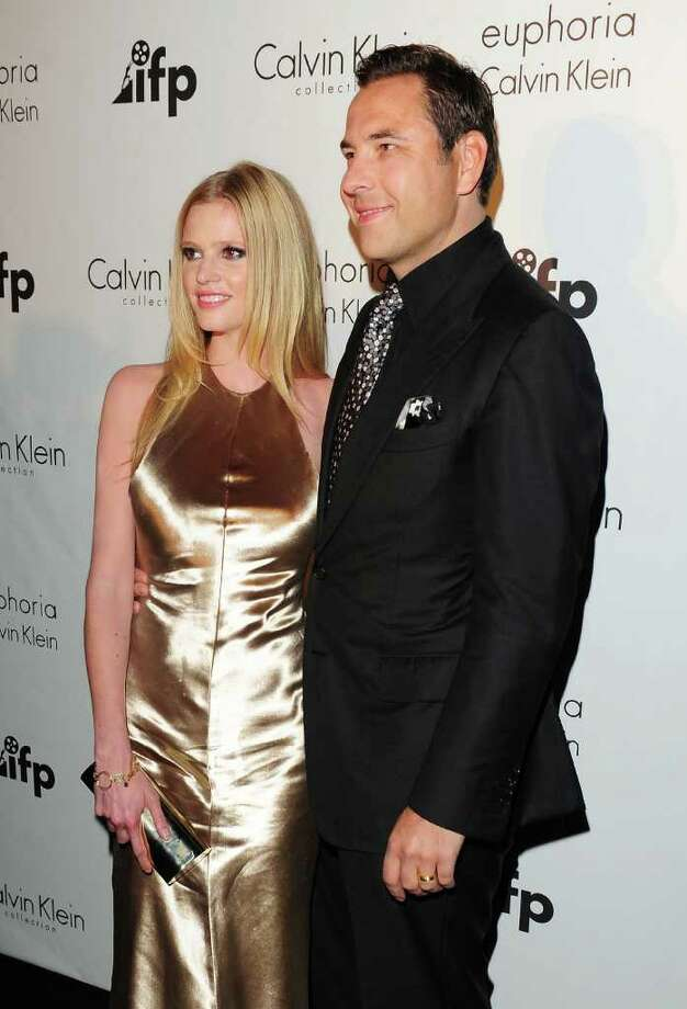 David Walliams (R) and wife model Lara Stone attends the Calvin Klein Event during the 64th Annual Cannes Film Festival at Martinez Hotel on May 12, 2011 in Cannes, France.  (Photo by Ian Gavan/Getty Images) *** Local Caption *** Lara Stone;David Walliams; Photo: Getty Images