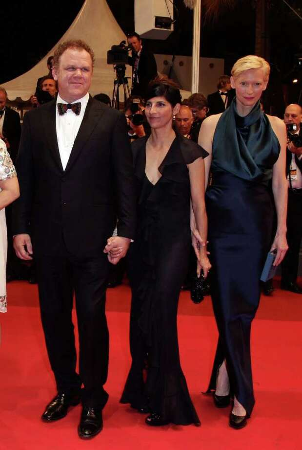 (L-R) Actor John C. Reilly, director/writer Lynne Ramsay and actress Tilda Swinton arrive at the 'We Need To Talk About Kevin' Premiere during the 64th Annual Cannes Film Festival at the Palais des Festivals on May 12, 2011 in Cannes, France.  (Photo by Andreas Rentz/Getty Images) *** Local Caption *** John C. Reilly;Lynne Ramsay;Tilda Swinton; Photo: Getty Images