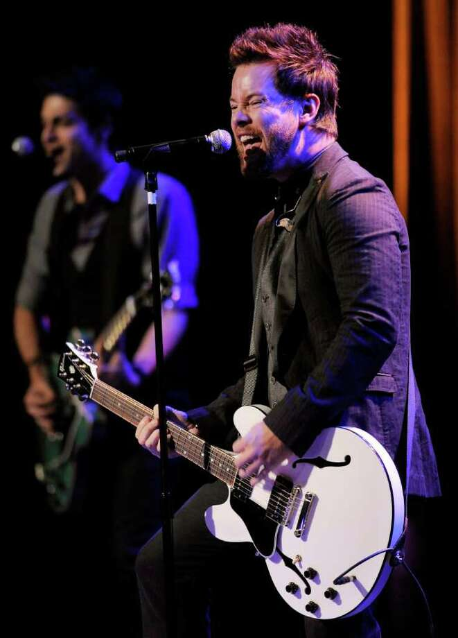 David Cook performs during the National Association of Recording Merchandisers Convention Awards Dinner, Thursday, May 12, 2011, in Los Angeles. Photo: AP
