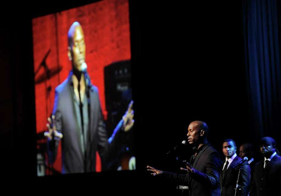 Tyrese performs during the National Association of Recording Merchandisers Convention Awards Dinner, Thursday, May 12, 2011, in Los Angeles. Photo: AP