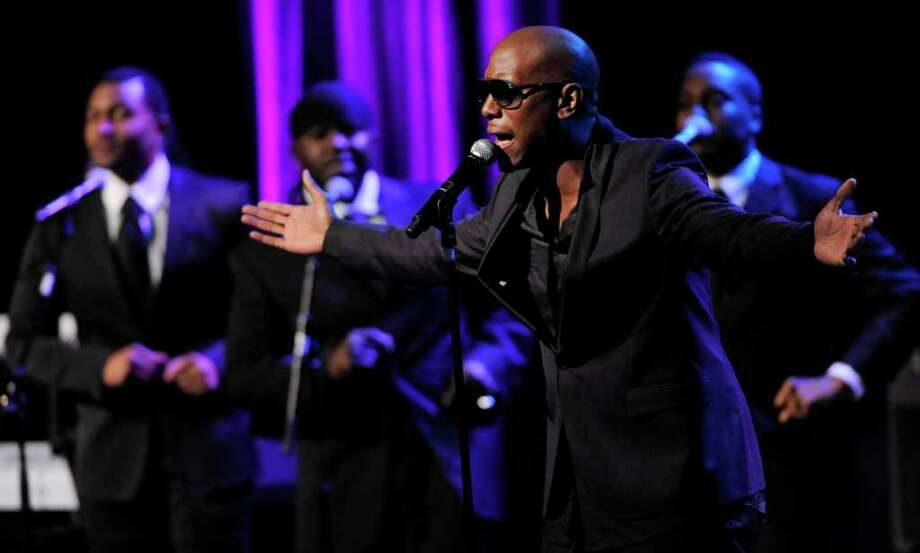 Actor-singer Tyrese performs at the National Association of Recording Merchandisers Convention Awards Dinner, Thursday, May 12, 2011, in Los Angeles. Photo: AP