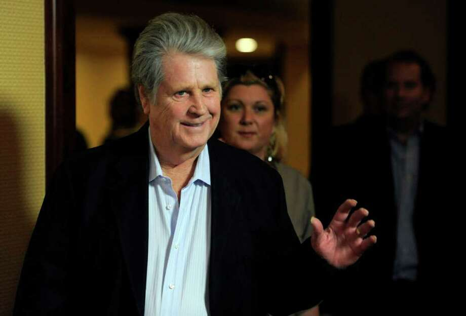 Honoree Brian Wilson arrives at the National Association of Recording Merchandisers Convention Awards Dinner, Thursday, May 12, 2011, in Los Angeles. Photo: AP