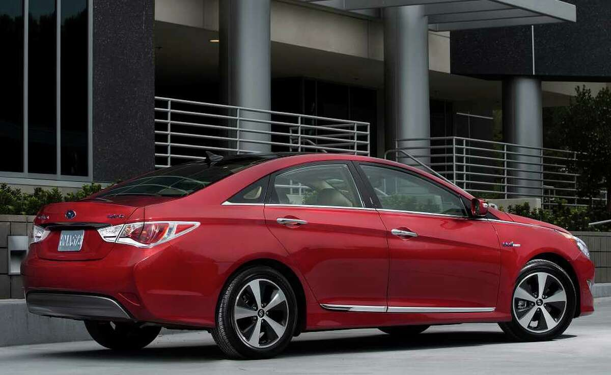 The 2011 Hyundai Sonata Hybrid can run on electric power alone at speeds up to 62 mph and has EPA ratings of 35 mpg city/40 highway.
