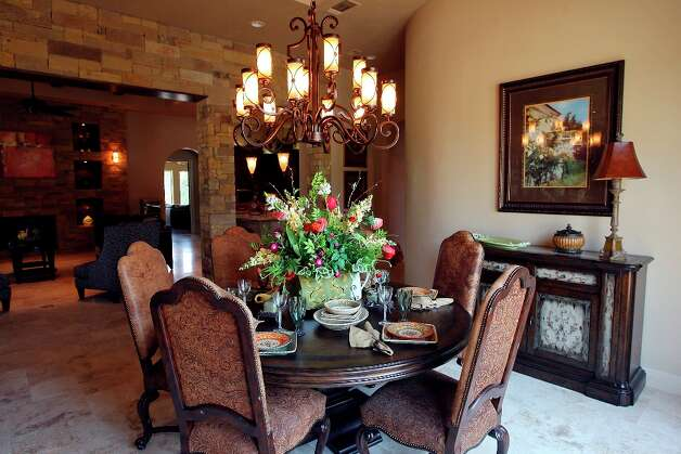 FOR REAL ESTATE - A view of the dining room at 341 Menger Springs a Trinity Custom Builders home Monday May 9, 2011 in the Menger Springs community of Boerne, Tx. Photo: EDWARD A. ORNELAS / SAN ANTONIO EXPRESS-NEWS (NFS)