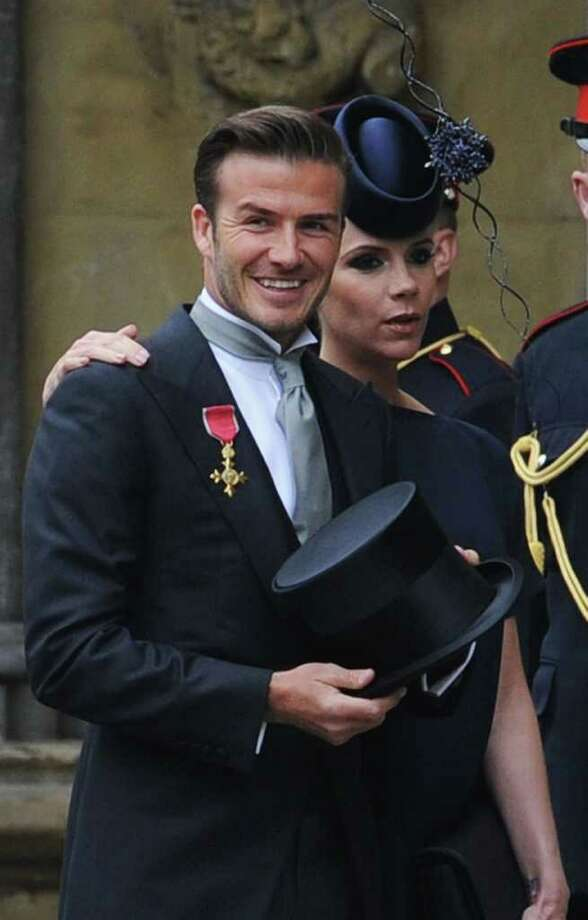 "David Beckham, 35, married to Victoria Beckham, 36 for 10.5 years. Father to: Brooklyn Joseph, 11; Romeo James, 8; Cruz David, 5, another on the way. ""We
