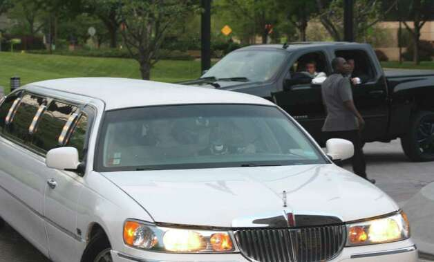 More than a few students took the traditional route and arrive in limousines. Photo: Contributed Photo / Darien News