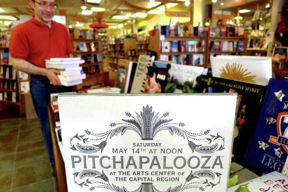 Pitchapalooza, a mass event where authors pitch their book ideas to publishers to be held on Saturday May 14, 2011.. Susan Novotny, owner of the Book House of Stuyvesant Plaza, had so many inquiries that she decided to move Pitchapalooza from the bookstore to the Arts Center of the Capital Region in Troy to accommodate the anticipated throng.( Michael P. Farrell/Times Union )