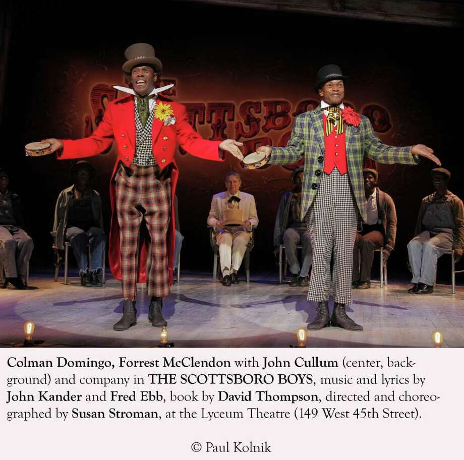 "Colman Domingo, left, and Norwalk native Forrest McClendon on stage in the ""Scottsboro Boys."" Both actors have received Tony nods for their performances. Photo: Contributed Photo / Paul Kolnik, Contributed Photo / Norwalk Citizen"