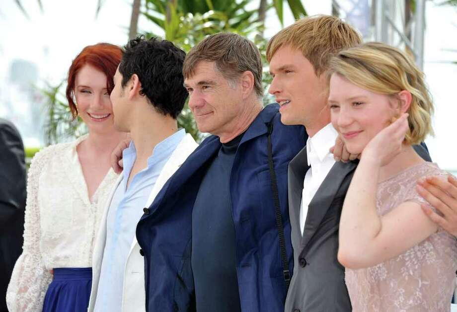 "(L-R) Actors Bryce Dallas Howard, writer Jason Lew, director Gus Van Sant, Henry Hopper and Mia Wasikowska attend the ""Restless"" photocall during the 64th Annual Cannes Film Festival on May 13, 2011 in Cannes, France.  (Photo by Pascal Le Segretain/Getty Images) *** Local Caption *** Mia Wasikowska;Henry Hopper;Gus Van Sant;Jason Lew;Bryce Dallas Howard; Photo: Getty Images"
