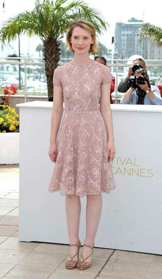 "Actress Mia Wasikowska attends the ""Restless"" Photocall during the 64th Cannes Film Festival at the Palais des Festivals on May 13, 2011 in Cannes, France.  (Photo by Dominique Charriau/Getty Images) *** Local Caption *** Mia Wasikowska; Photo: Getty Images"