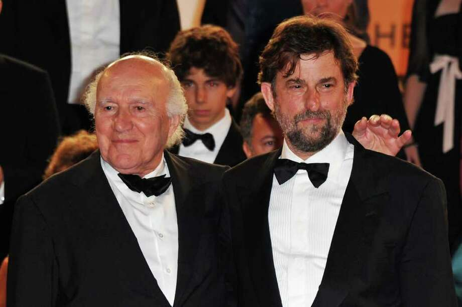 "(L-R) Actor Michel Piccoli and director Nanni Moretti depart the ""Habemus Papam"" premiere at the Palais des Festivals during the 64th Cannes Film Festival on May 13, 2011 in Cannes, France. Photo: Pascal Le Segretain, Getty Images / 2011 Getty Images"