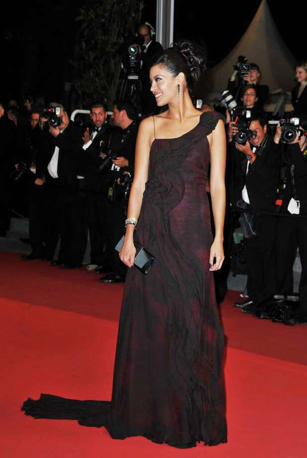 "Acrtress Stephanie Sigman attends the ""Miss Bala"" premiere at the Palais des Festivals during the 64th Cannes Film Festival  on May 13, 2011 in Cannes, France. Photo: Pascal Le Segretain, Getty Images / 2011 Getty Images"