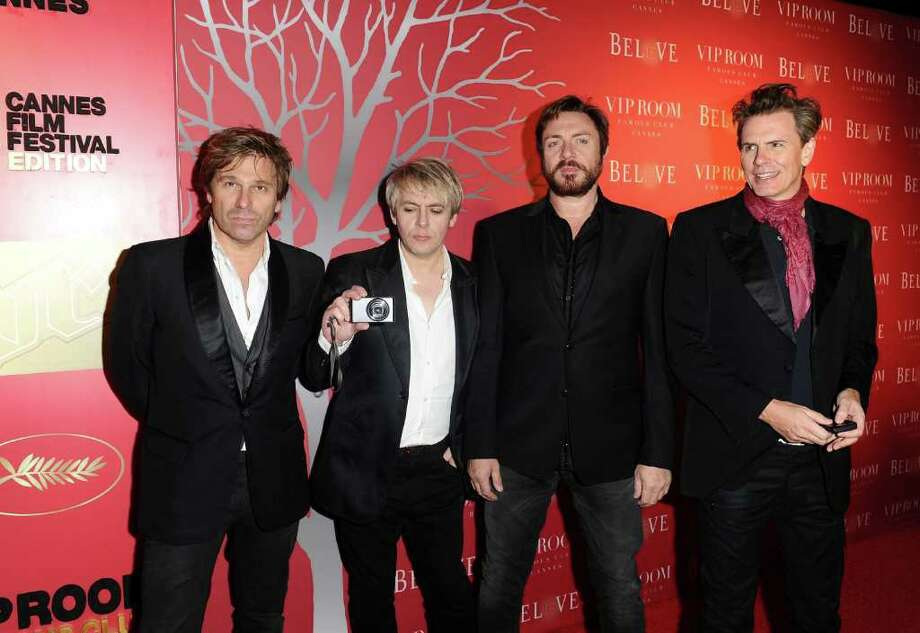 (L-R) Musicians Roger Taylor, Nick Rhodes, Simon Le Bon and John Taylor of Duran Duran attend the (BELEVEDERE) RED party in Cannes to celebrate the European launch of (BELVEDERE) RED featuring a performance by Duran Duran held at the VIP Room Famous Club on May 13, 2011 in Cannes, France. Photo: Ian Gavan, Getty Images For Belvedere / 2011 Getty Images