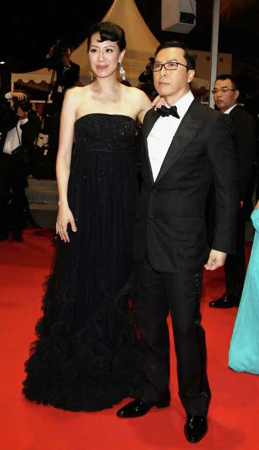 """Cecilia Cissy Wang (L) and actor Donnie Yen attends the """"Wu Xia"""" premiere during the 64th Annual Cannes Film Festival at the Palais des Festivals on May 13, 2011 in Cannes, France. Photo: Andreas Rentz, Getty Images / 2011 Getty Images"""