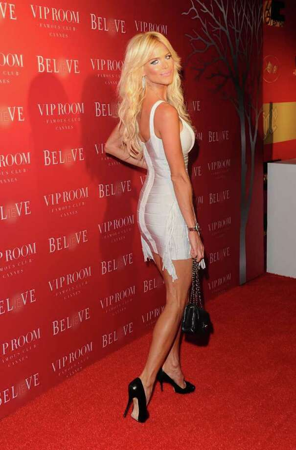 Model Victoria Silvstedt attends the (BELVEDERE) RED party in Cannes to celebrate the European launch of (BELVEDERE) RED featuring a performance by Duran Duran held at the VIP Room Famous Club on May 13, 2011 in Cannes, France. Photo: Ian Gavan, Getty Images For Belvedere / 2011 Getty Images