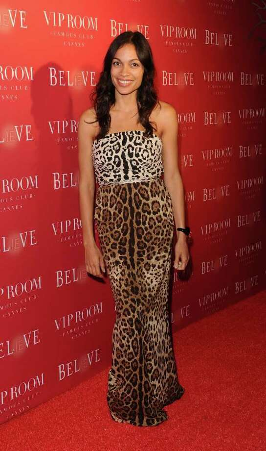 Actress Rosario Dawson attends the (BELVEDERE) RED party in Cannes to celebrate the European launch of (BELVEDERE) RED featuring a performance by Duran Duran held at the VIP Room Famous Club on May 13, 2011 in Cannes, France. Photo: Ian Gavan, Getty Images For Belvedere / 2011 Getty Images