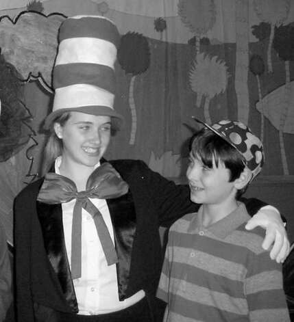 (left to right)  Rebecca Jordan (Cat in the Hat) and Justin Jasiewicz (Jojo) (Courtesy Christine Adamczak) Photo: Picasa 3.0