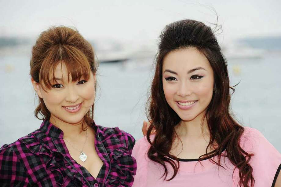 "Actresses Vonnie Lui (R) and Yukiku Suou (L) attend the ""3D Sex And Zen: Extreme Ecstacy"" photocall at the Majestic Beach Pier during the 64th Cannes Film Festival on May 14, 2011 in Cannes, France. Photo: Michael Buckner, Getty Images / 2011 Getty Images"