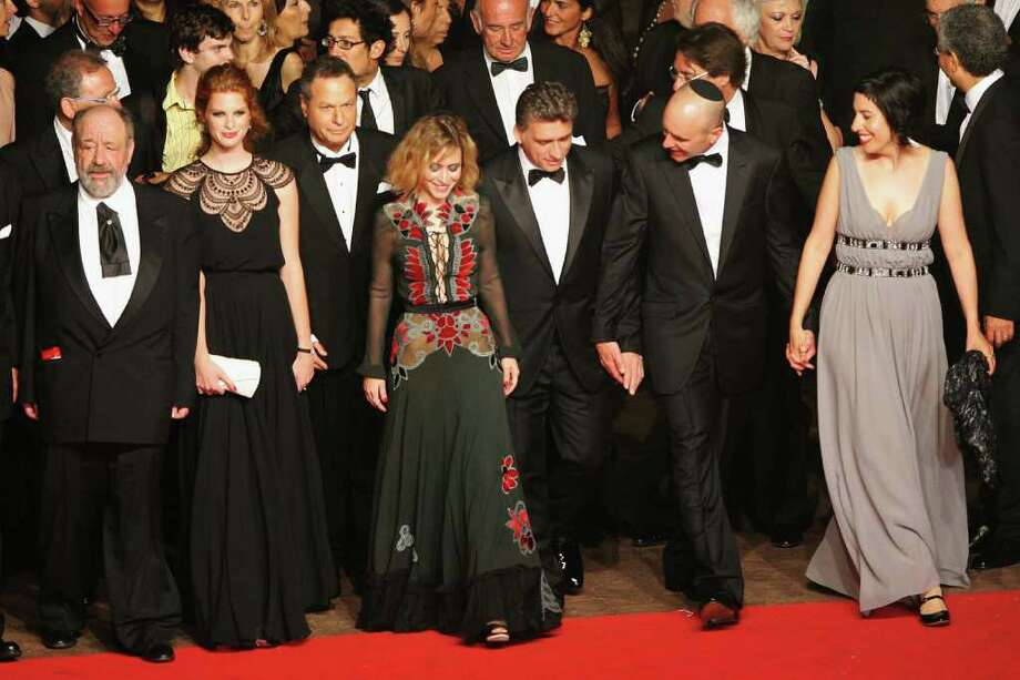 "(L-R) Micah Lewensohn; Yuval Scharf, Shlomo Bar Aba, Alma Zack, Lior Ashkenazi, director Joseph Cedar and guest attend the ""Hearat Shulayim"" premiere at the Palais des Festivals during the 64th Cannes Film Festival on May 14, 2011 in Cannes, France. Photo: Karl Walter, Getty Images / 2011 Getty Images"